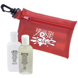 Custom imprinted 2 Piece Travel Care Kit