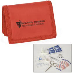 Custom imprinted First Aid Travel Kit