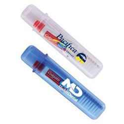 Custom imprinted Travel Toothbrush & Colgate Toothpaste