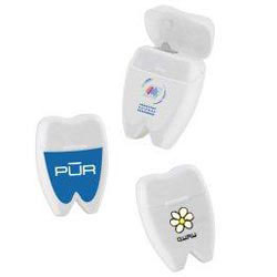 Custom imprinted Tooth Shaped Dental Floss