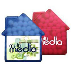 Custom imprinted House Shaped Credit Card Mints