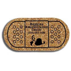 Custom imprinted Cork Bandage Coaster