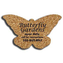 Custom imprinted Cork Butterfly Coaster