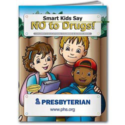 Custom imprinted Coloring Book: Smart Kids Say No to Drugs