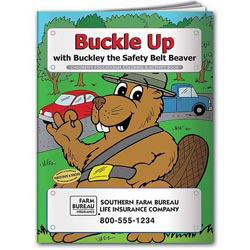 Custom imprinted Coloring Book: Buckle Up