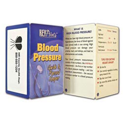 Custom imprinted Key Point: Blood Pressure - Guide & Record Keeper