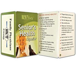 Custom imprinted Key Point: Senior's Health Organizer
