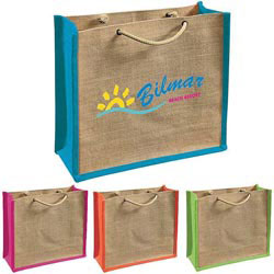 Custom imprinted Jute Gift Tote