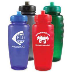 Custom imprinted Polyclear Sports Bottle
