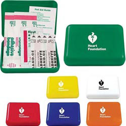Custom imprinted First Aid Pocket Box