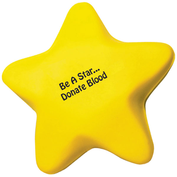 Custom imprinted Star Stress Reliever