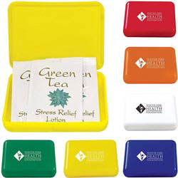 Custom imprinted Green Tea Stress Relief Pocket Box
