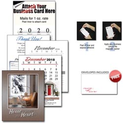 Custom imprinted 13 Month Realtor Business Card Calendar w/ Cover