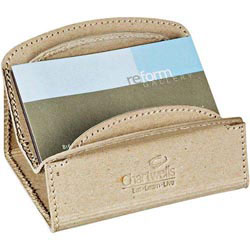 Custom imprinted CLOSEOUT Recycled Cardboard Business Card Holder