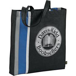 Custom imprinted PolyPro Stripes Tote