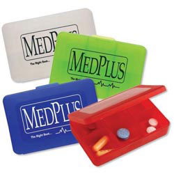 Custom imprinted 6 Pack Pill Box