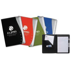 Custom imprinted Jr. Executive Contour Padfolio