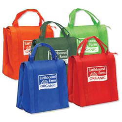 Custom imprinted Insulated Non-Woven Grocery Tote