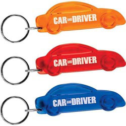 Custom imprinted Translucent Car Keytag