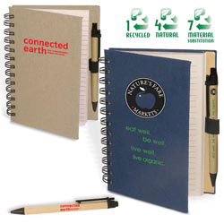 Custom imprinted Earth Saver Journal & Pen Combo