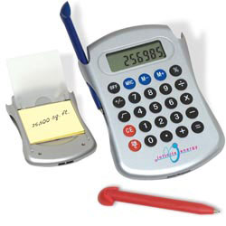Custom imprinted Espionage Calculator/Pen/Pad