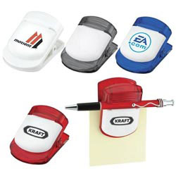 Custom imprinted Magnetic Memo Clip/Pen Holder