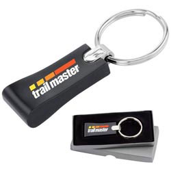 Custom imprinted Rectangular Key Ring
