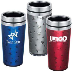 Custom imprinted Star Travel Tumbler
