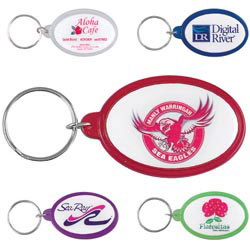 Custom imprinted Colorvision Oval Key Ring