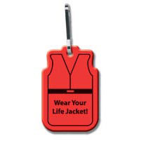 Custom imprinted Life Vest Zipper Pull