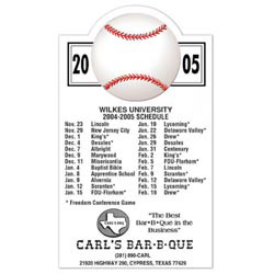 Custom imprinted Baseball Schedule Magnet