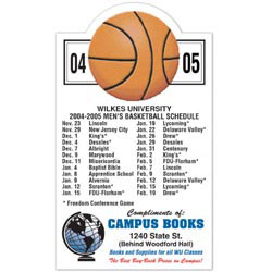 Custom imprinted Basketball Schedule Magnet