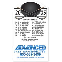 Custom imprinted Hockey Schedule Magnet