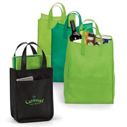 Custom imprinted Green Grocery Set
