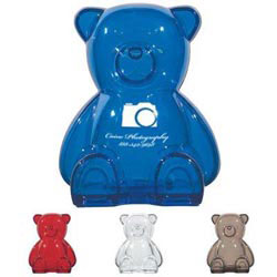 Custom imprinted Plastic Bear Shape Bank
