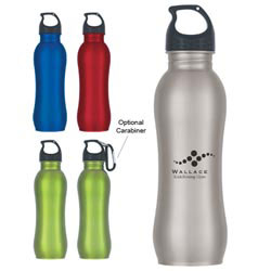 Custom imprinted 25 Oz. Stainless Steel Grip Bottle
