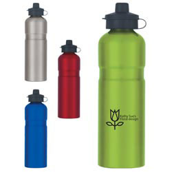 Custom imprinted 25 Oz. Stainless Steel Sport Bottle