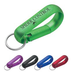 Custom imprinted Wide Aluminum Carabiner With Key Ring