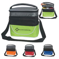 Custom imprinted Two Compartment Lunch Bag