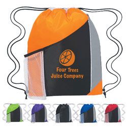 Custom imprinted Tri-Color Sports Backpack