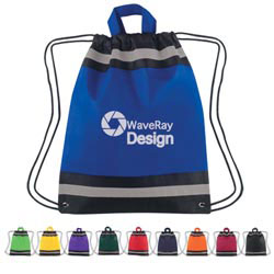Custom imprinted Small Non-Woven Reflective Hit Sports Backpack