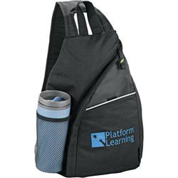 Custom imprinted Tempo 100% Recycled PET Sling Bag