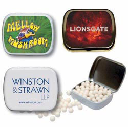 Custom imprinted Small Tin Of Mints