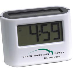 Custom imprinted Solar Alarm Clock