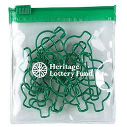 Custom imprinted Dollar Green Clipsters In A Pouch