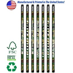 Custom imprinted Jungle Camouflage Wrap Pencil