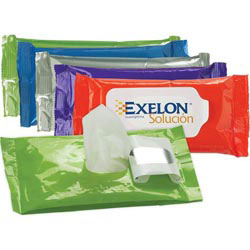Custom imprinted Antibacterial Wet Wipes