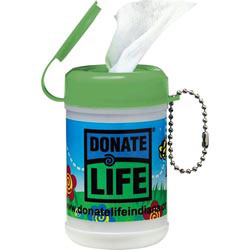 Custom imprinted Wipes Canister