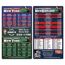 Custom imprinted Magnet Sport Schedule - 4x7 Football Round Corners