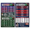 Magnet Sport Schedule - 4x7 Football Round Corners